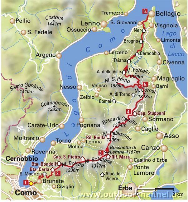 Mountainbike -Touren rund um den Comer See