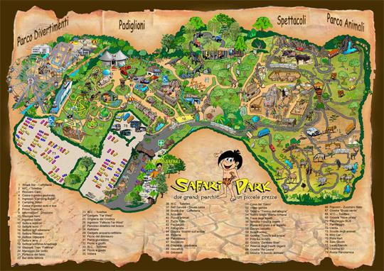 Safari Par Pombia-Karte