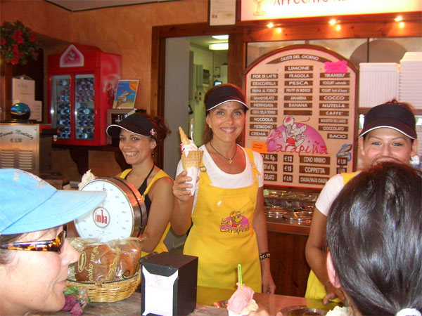 Gelateria  Carapina in Gravedona