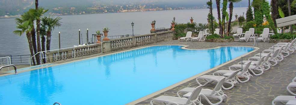 Grand Hotel Villa Serbelloni Pool mit Seeantoss.