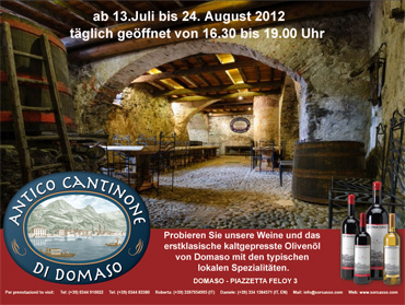 Weinprobe im Antico Cantinone