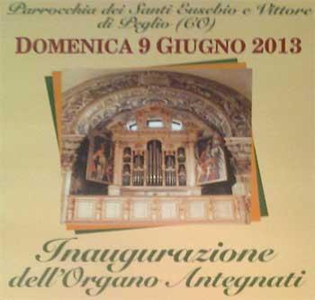 Einweihungs-Fest der Orgel in Peglio