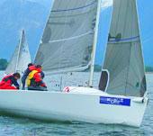 Segel-Regatta auf dem Comer See