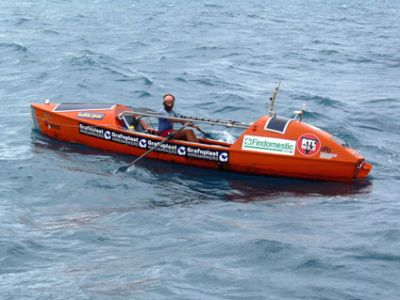 Alex Bellini  Pazifik-Ueberquerung im Ruderboot
