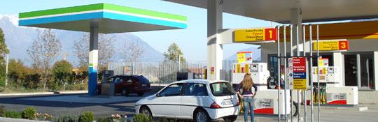 Autogas LPG und Erdgas CNG  Tankstellen am Comer See
