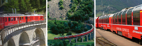 Bernina-Express -von Gletschern zu Palmen
