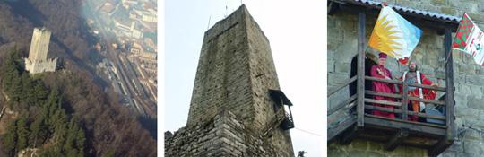 Castello Baradello Burg-Festung bei Como