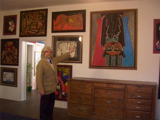 Kunst-Galerie Guy de Jong in Peglio oberhalb Gravedona