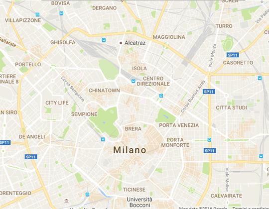Milano Ortplan /Stadtplan
