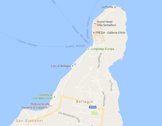 Bellagio Ortsplan / Stadtplan