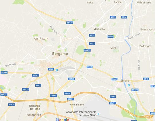Bergamo Ortsplan / Stadtplan