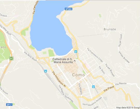 Como Ortsplan / Stadtplan