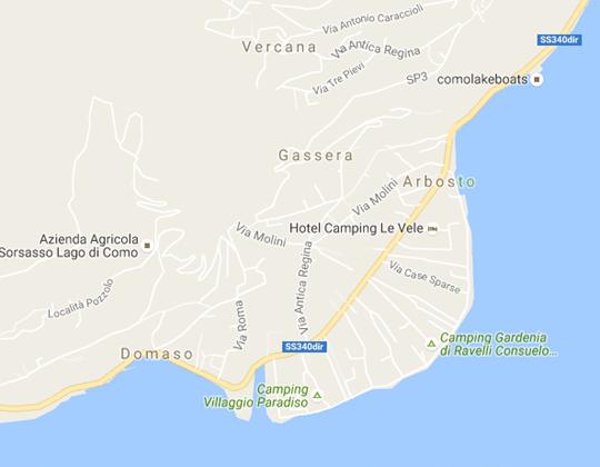Domaso Ortsplan / Stadtplan