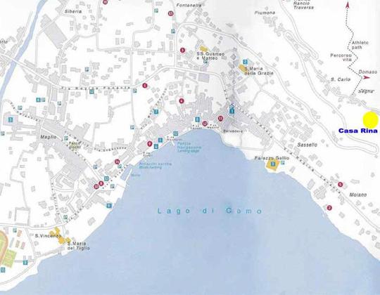 Gravedona  Ortsplan / Stadtplan
