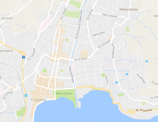Lugano Ortsplan / Stadtplan