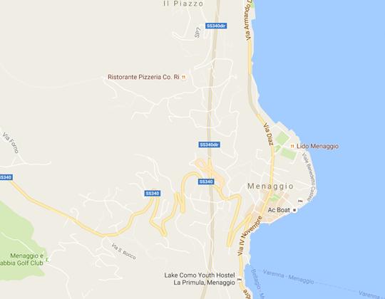 Menaggio Ortsplan Stadtplan