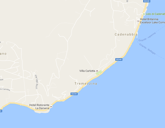 Tremezzo Ortsplan Stadtplan
