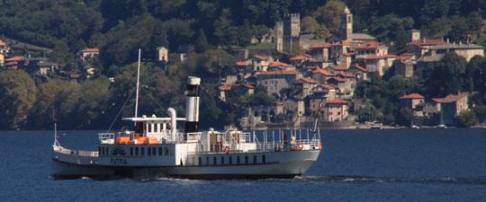Schaufelraddampfer Patria des Lago di Como