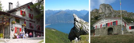 Berghütten und Übernachtungsmöglichkeiten in den Bergen