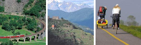 Valtellina das Herz der Alpen