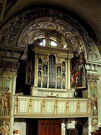 Orgel Antegnati im Urzustand