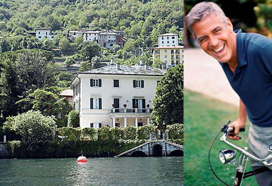 Wo wohnt Clooney am Comer See?