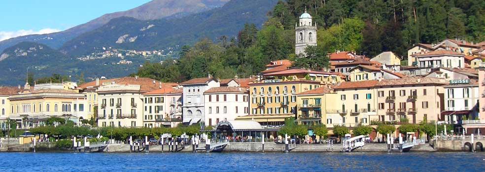 Von Cadenabbia Blick zum Ostufer und  Bellagio.