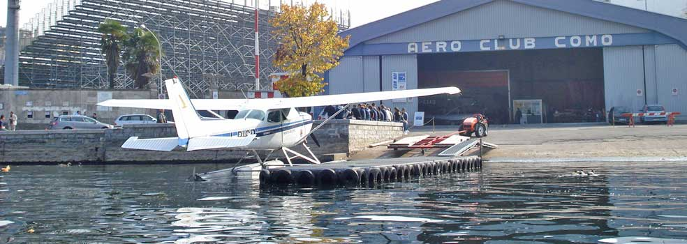 Como grösster Wasserflugplatz Europas.