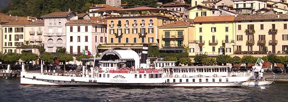 Dampfschiff Concordia der Navigazione di Lago di Como.