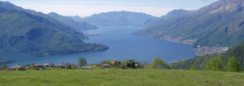 Traumhafter Blick von der Alm Tabiadello oberhalb Vercana.