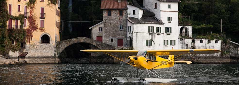 Start eines Wasserflugzeuges bei Nesso.