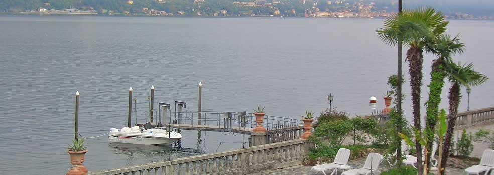 Bootsanlegesteg für Grand Hotel Villa Serbelloni Bellagio.